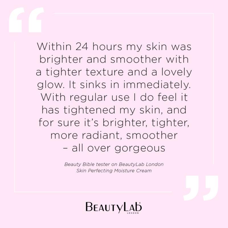Skin Perfecting Moisture cream testimonial Beauty Bible