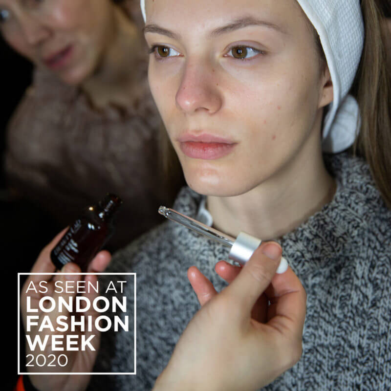 Multi vitmaine oil at lond fashion show